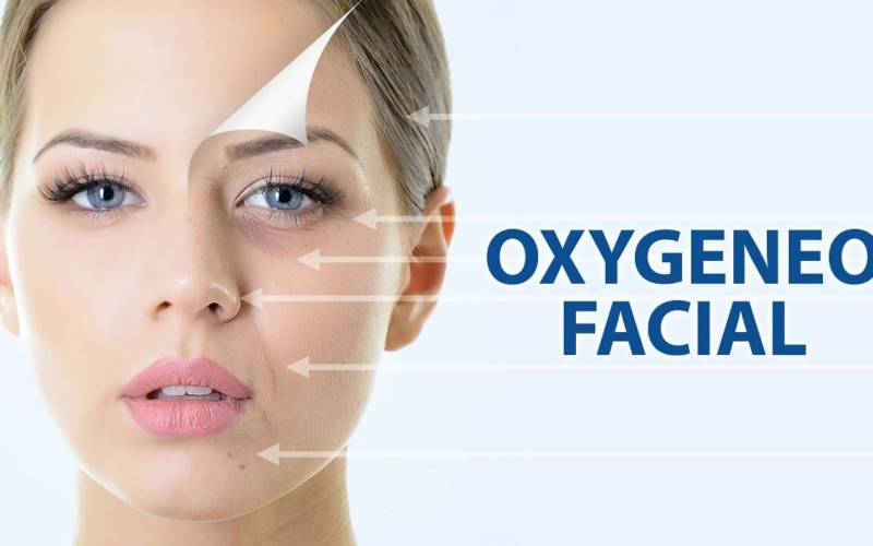 oxygeneo facial woman